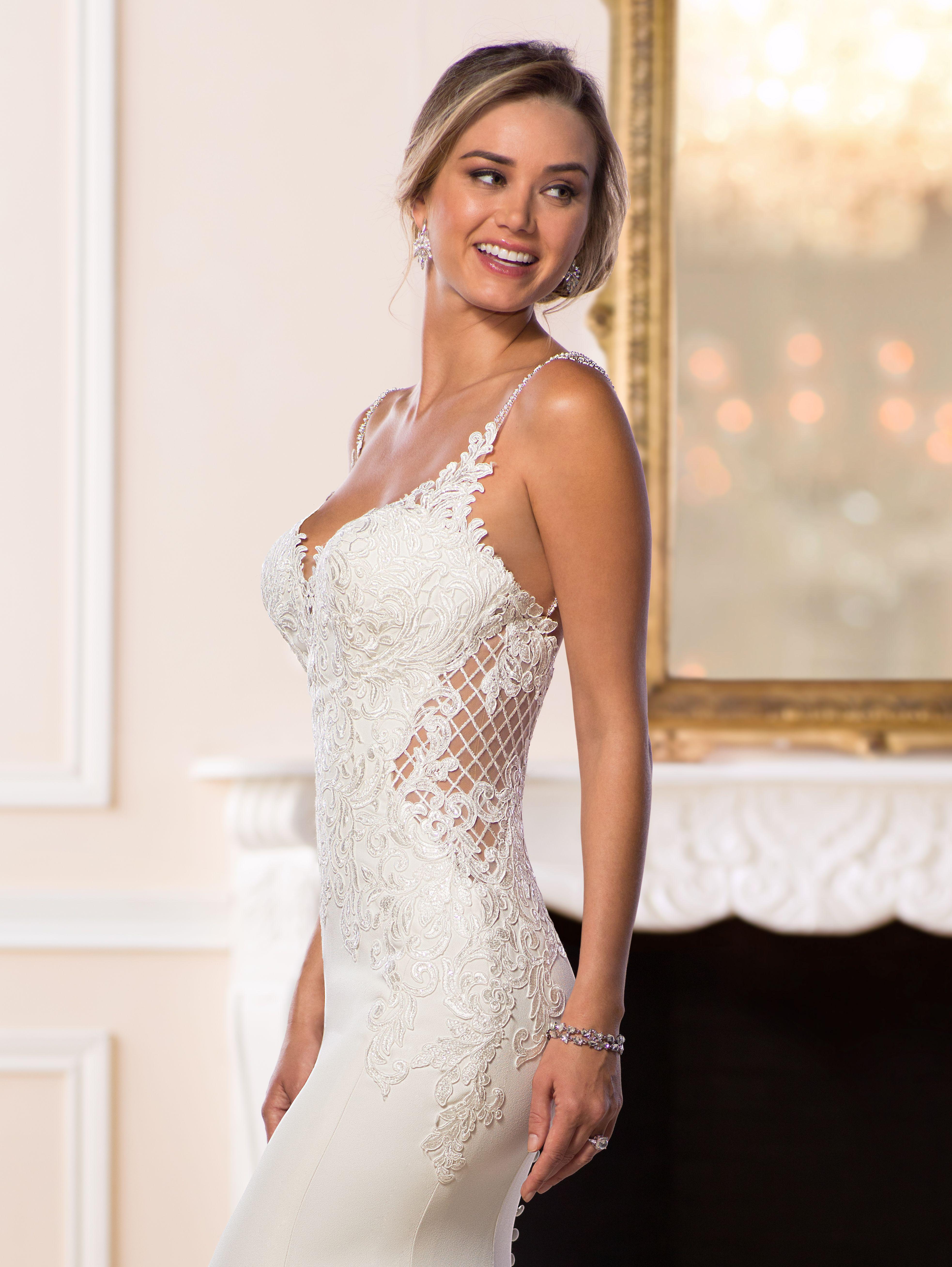 51864c23d06c33 Bruid Bruidsjurk Trouwjurk Bride Weddingdress Stella York Boho Bohemian  Ibiza Kant Lace Open rug Backless Open