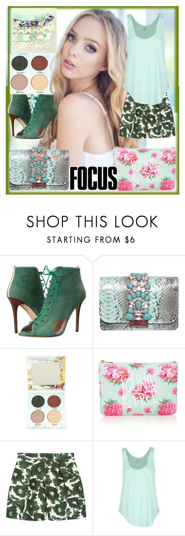 """""""Untitled #122"""" by esperanza8 ❤ liked on Polyvore featuring beauty, SJP, GEDEBE, TheBalm, Forever 21, Mother of Pearl and Rip Curl"""