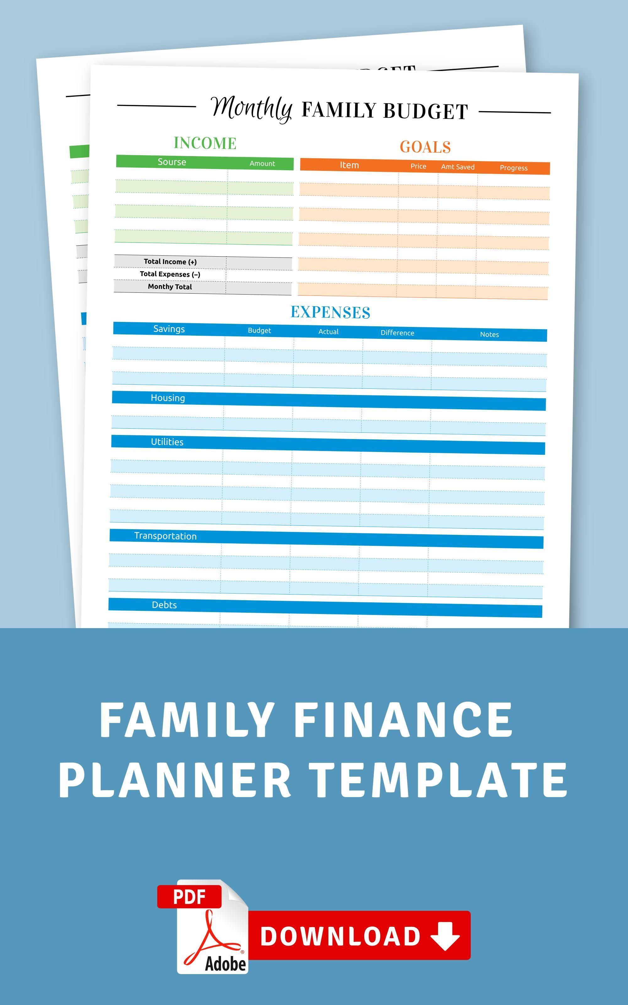 Family Finance Planner In