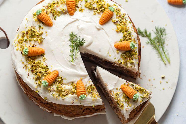 Healthy vegan carrot cake kitchen thyme savoury cake