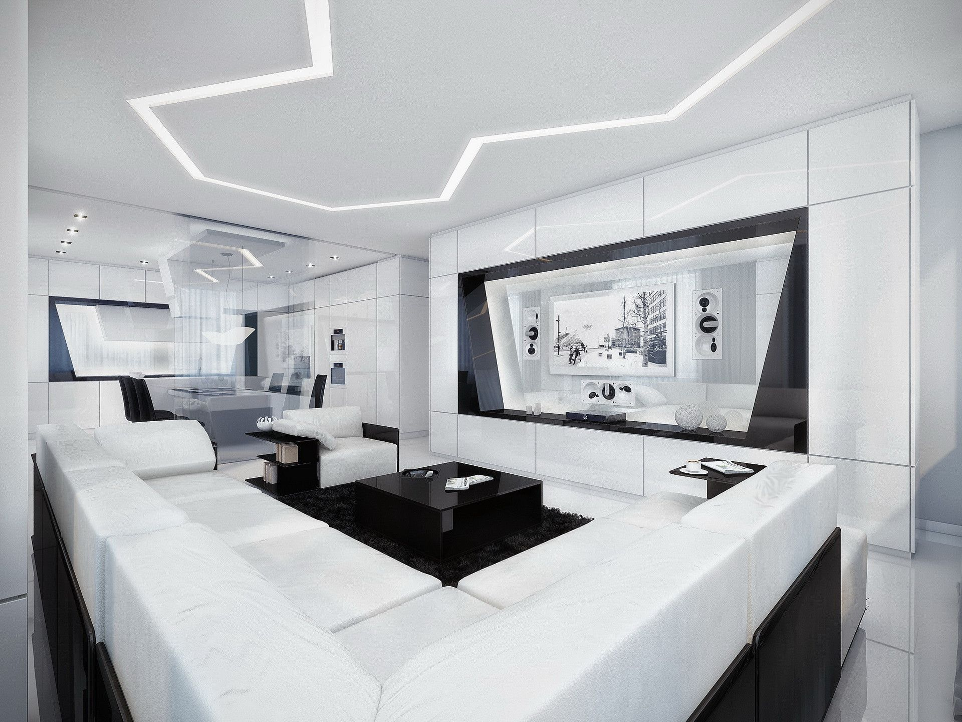 Lovely Futuristic Living Room | Awesome Design Inspiration