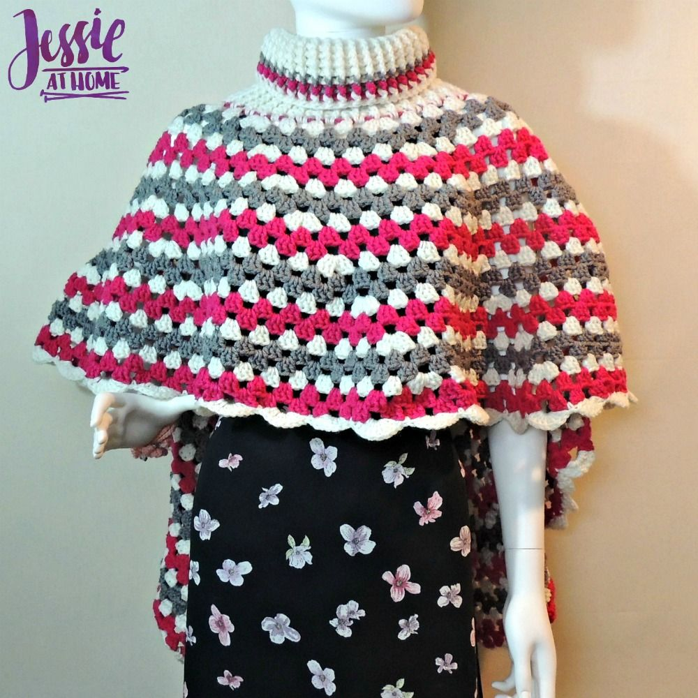 Circular Poncho - free crochet pattern by Jessie At Home - 2 ...