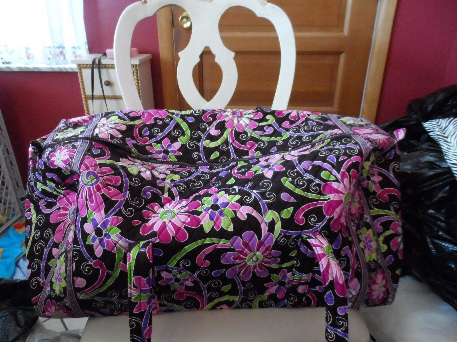 69.99$  Buy now - http://vilxu.justgood.pw/vig/item.php?t=pvme53x55268 - Vera bradley X -large duffel bag in Purple Punch 69.99$