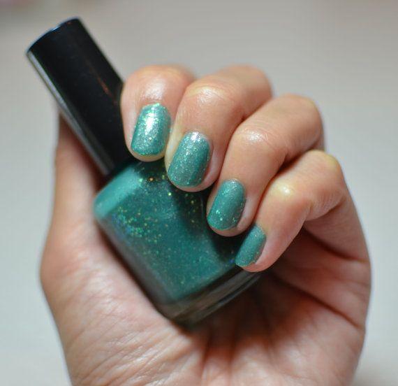 Nail Polish: Beach Bunny - Aqua Teal Polish With Iridescent Glitter ...