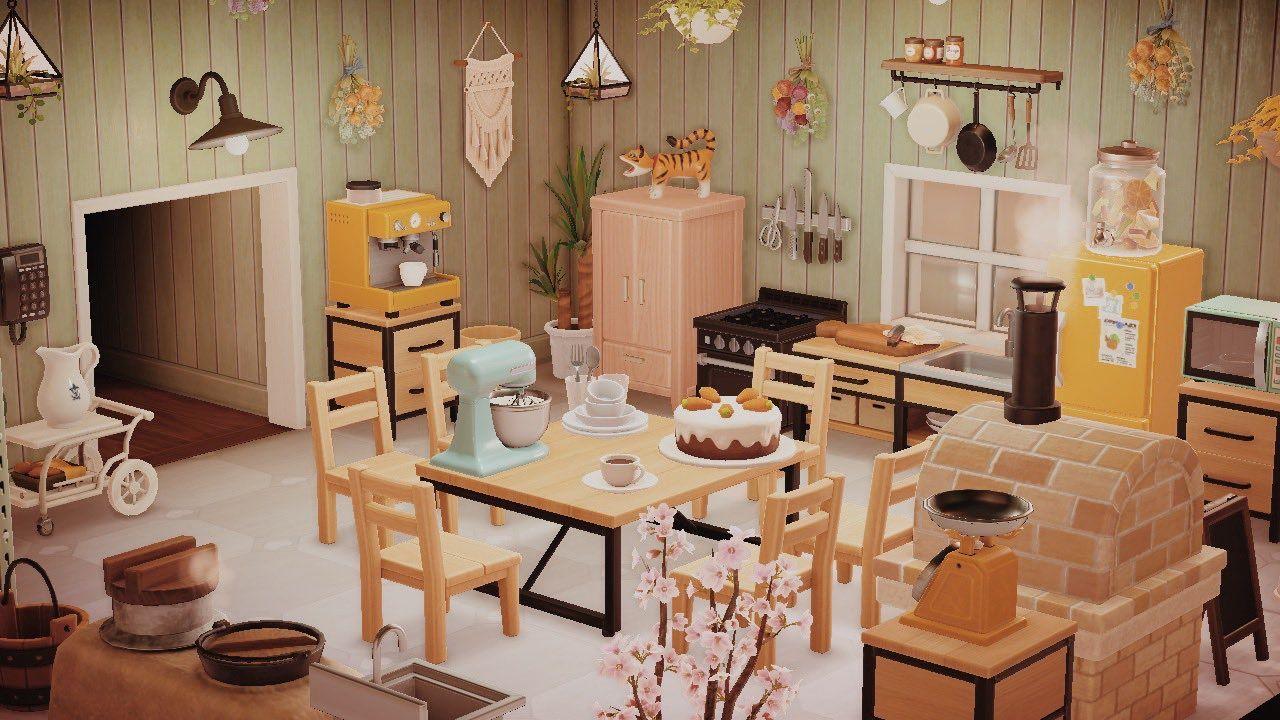 """𝚔𝚛𝚒𝚜𝚝𝚒𝚗𝚎 ・゚: * ・゚:* on Twitter: """"rainbow kitchen ♡ #acnh ... on Animal Crossing Kitchen Ideas  id=60024"""