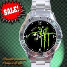ccaab32ba4d Resultado de imagen para Hot Monster Energy and DJ Deadmau5 Custom  Stainless Steel Analogue Watch