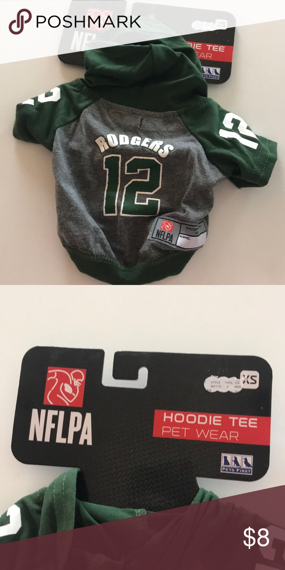 new style 76758 86e43 Small pet hoodie NFL Packers jersey New with tags. Never ...
