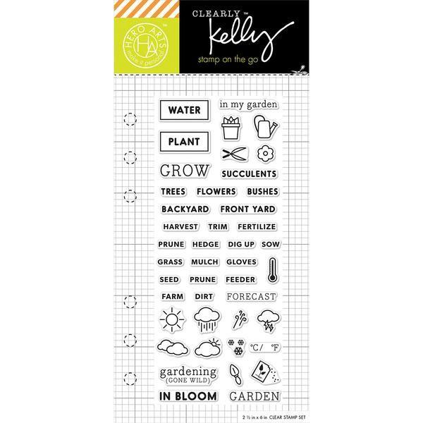 Kelly Purkey Clear Stamps 25x6 Garden Planner Scrapbooking
