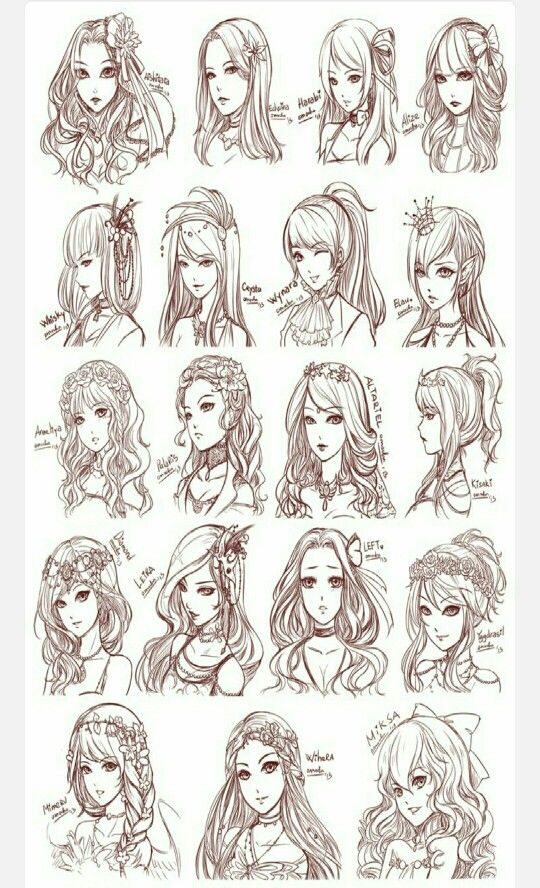 Pin By Akenay Hatami On Peinados Hair Sketch Anime Hair Manga Hair