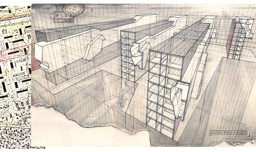 Image result for lebbeus woods perspective drawing