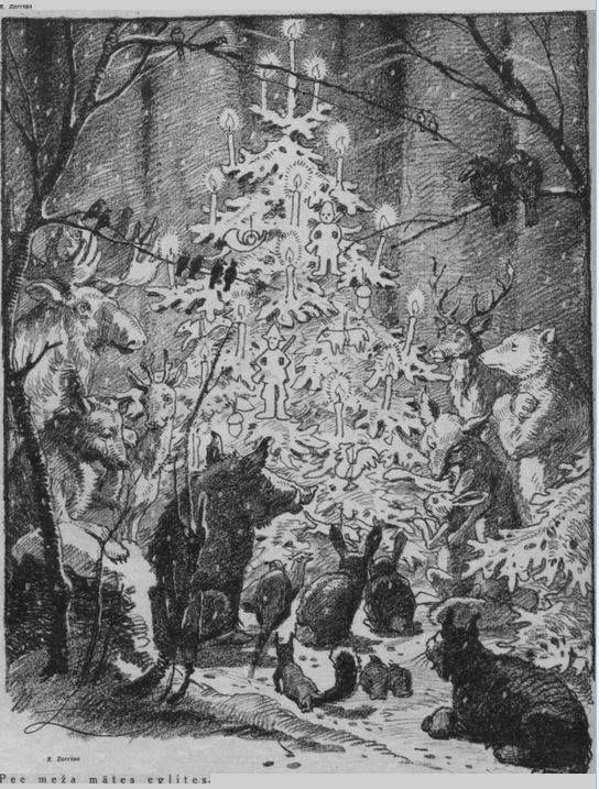 "Latvian animal Christmas. Via ""Latvian History"" FB page."