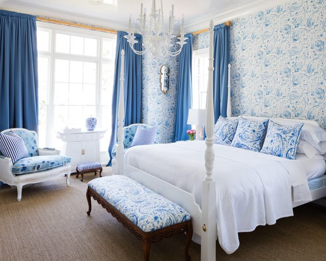 "<p>Mother-daughter design duo <a href=""http://betsyandersoninteriors.com/"" target=""_blank"">Betsy Anderson and Katie O'Neal</a> are behind this dreamy blue-and-white master bedroom. Resources and additional details in the <strong>"