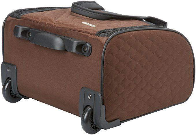 Travelon Wheeled Underseat Carry On With Back Up Bag Black One Size Suitcases