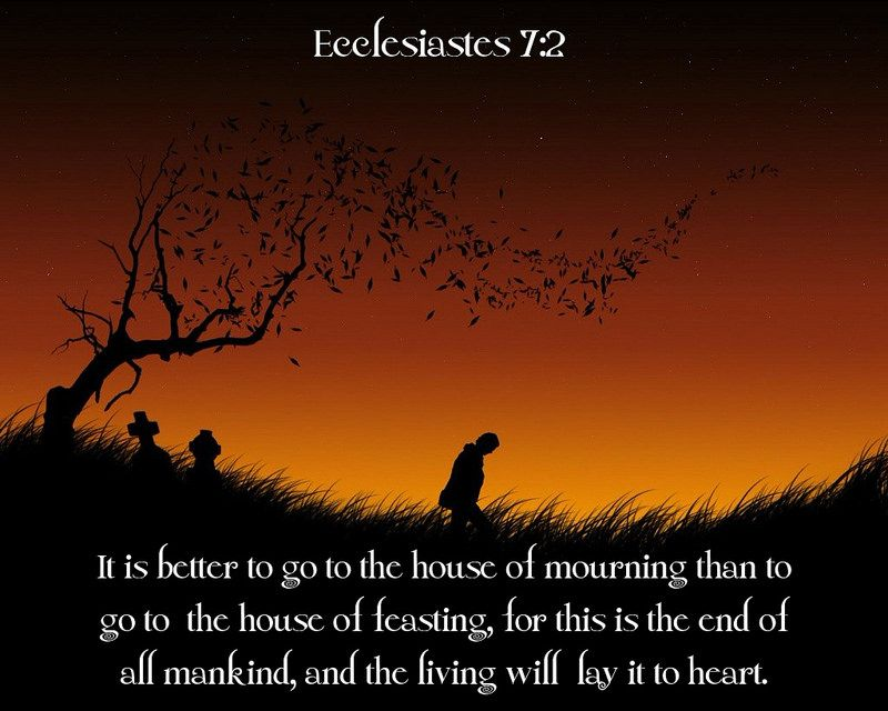 Image result for ecclesiastes 7:2