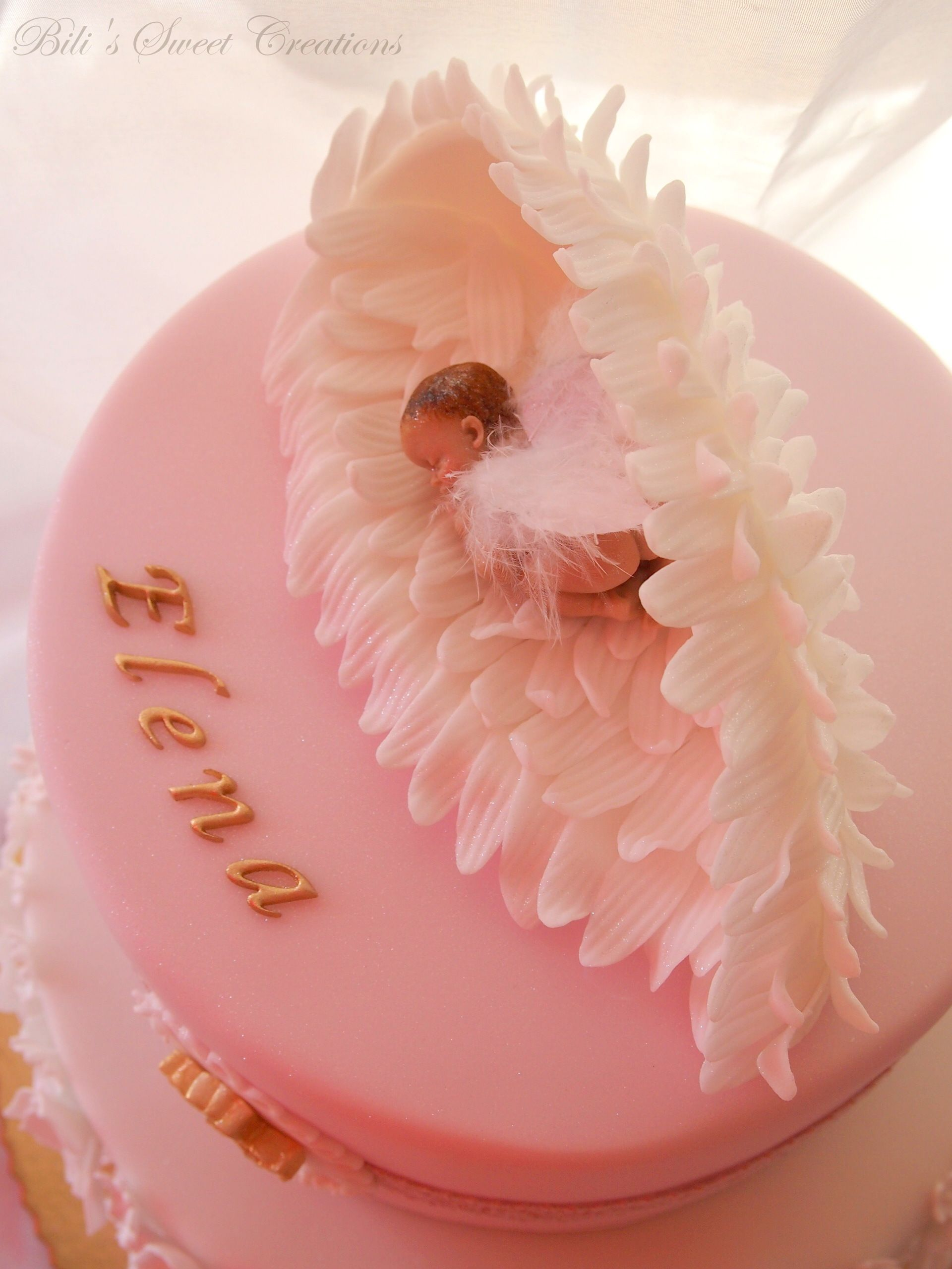 Fondant Angel Wings With Baby