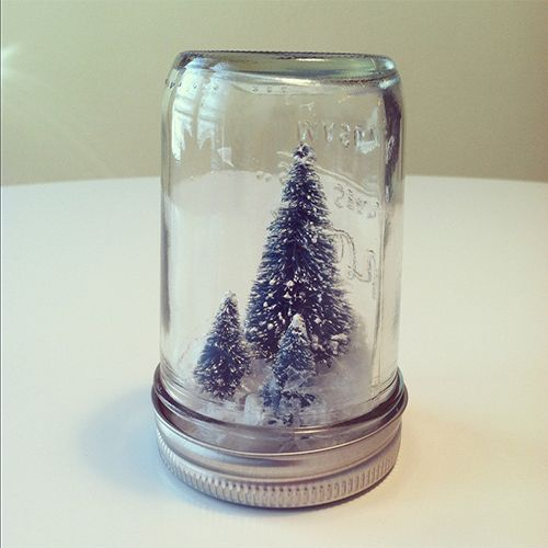 holiday crafts with jars | DIY Mason Jar Christmas Crafts: Miniature Christmas Tree in a Jar