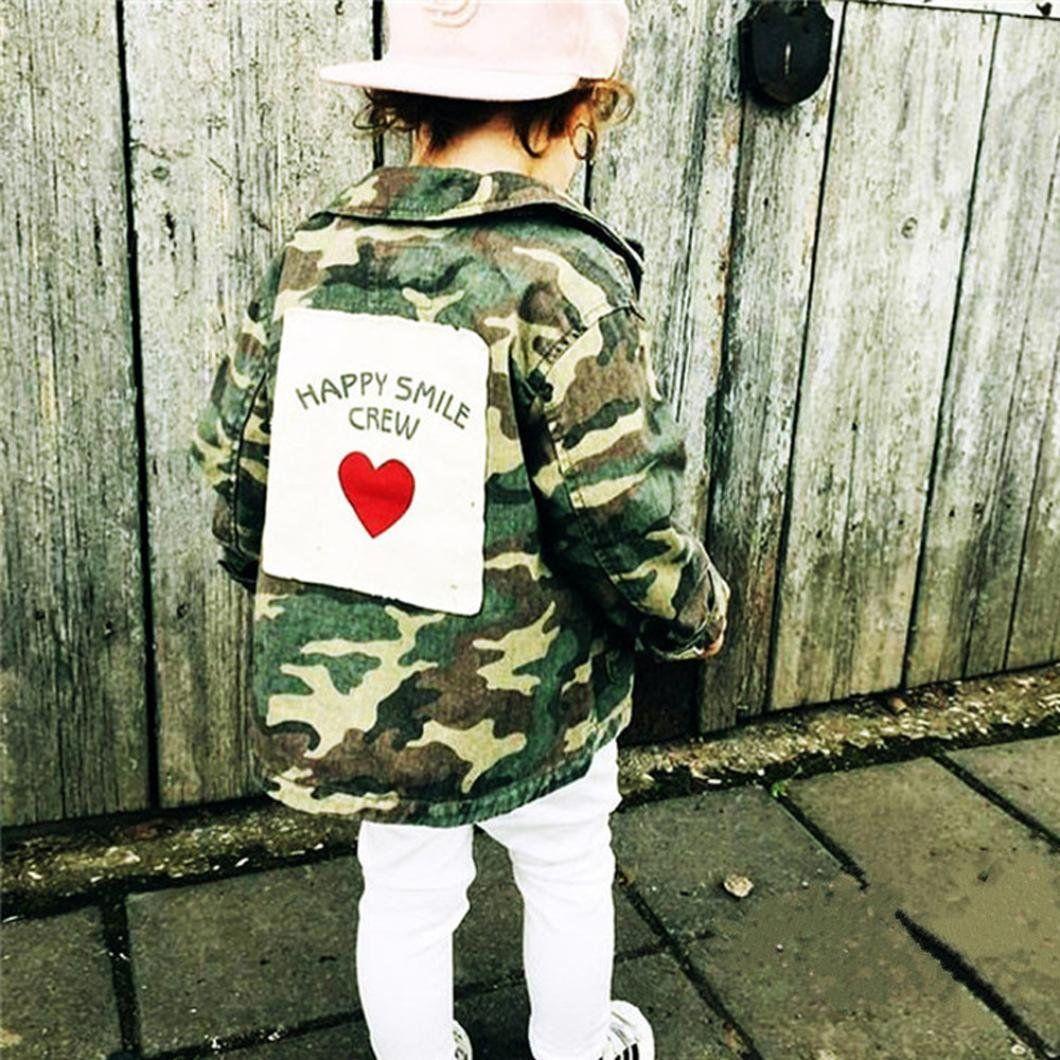 19f973798 Nevera Baby Infant Girls Boy Camouflage Denim Coat Cloak Jacket ...