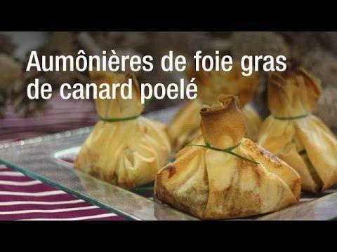 Aumônières de foie gras de canard poelé (facile, rapide) - Une recette CuisineAZ