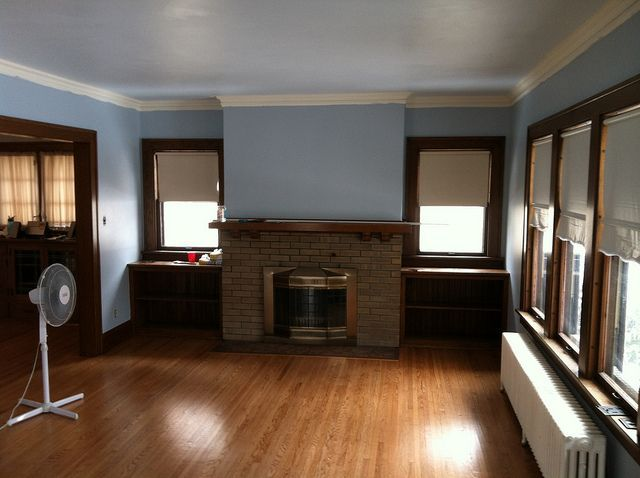 White Crown Molding With Dark Wood Trim Google Search