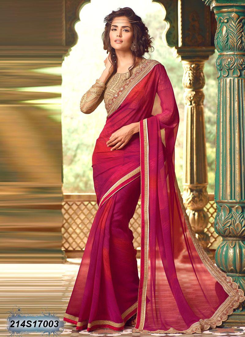 429947b4e4 Dreamy Pink Coloured Georgette Saree. Dreamy Pink Coloured Georgette Saree  Saree Designs Party Wear ...