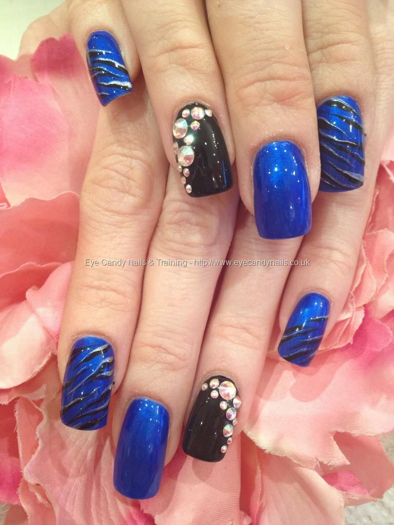 electric blue black and silver