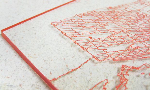 Lines etched into acrylic with laser cutter (LEAVE FILM ON), then spray paint to fill etched lines.  Then remove film using tweezers.