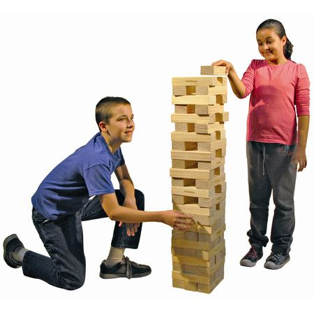 Enjoy classic entertainment with this upcycled pine wood stacking tower game, perfect for rainy afternoons or family nights in.    Prod...