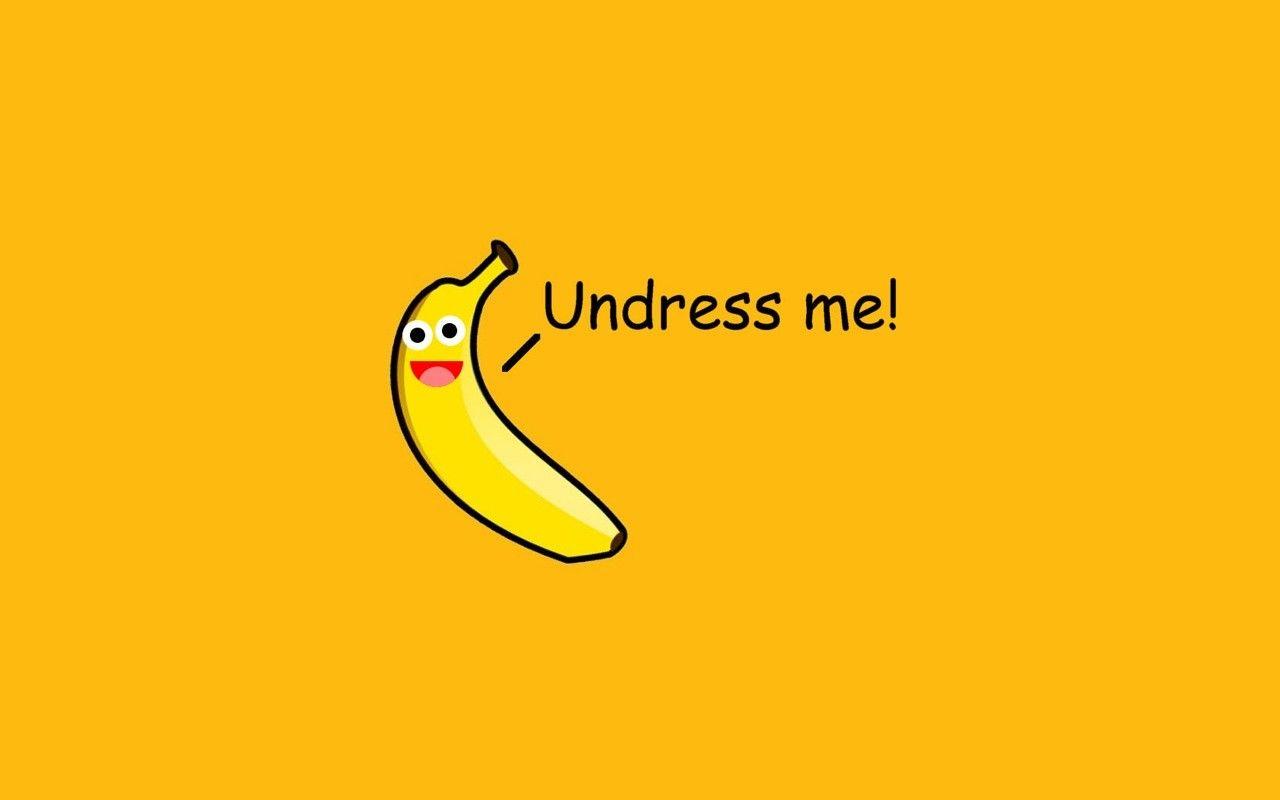 Fruit Minimalism Humor Simple Background Bananas Wallpaper Ide