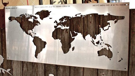 Stainless steel world map by remnantsteel on etsy 8100 maps stainless steel world map by remnantsteel on etsy 8100 gumiabroncs Gallery