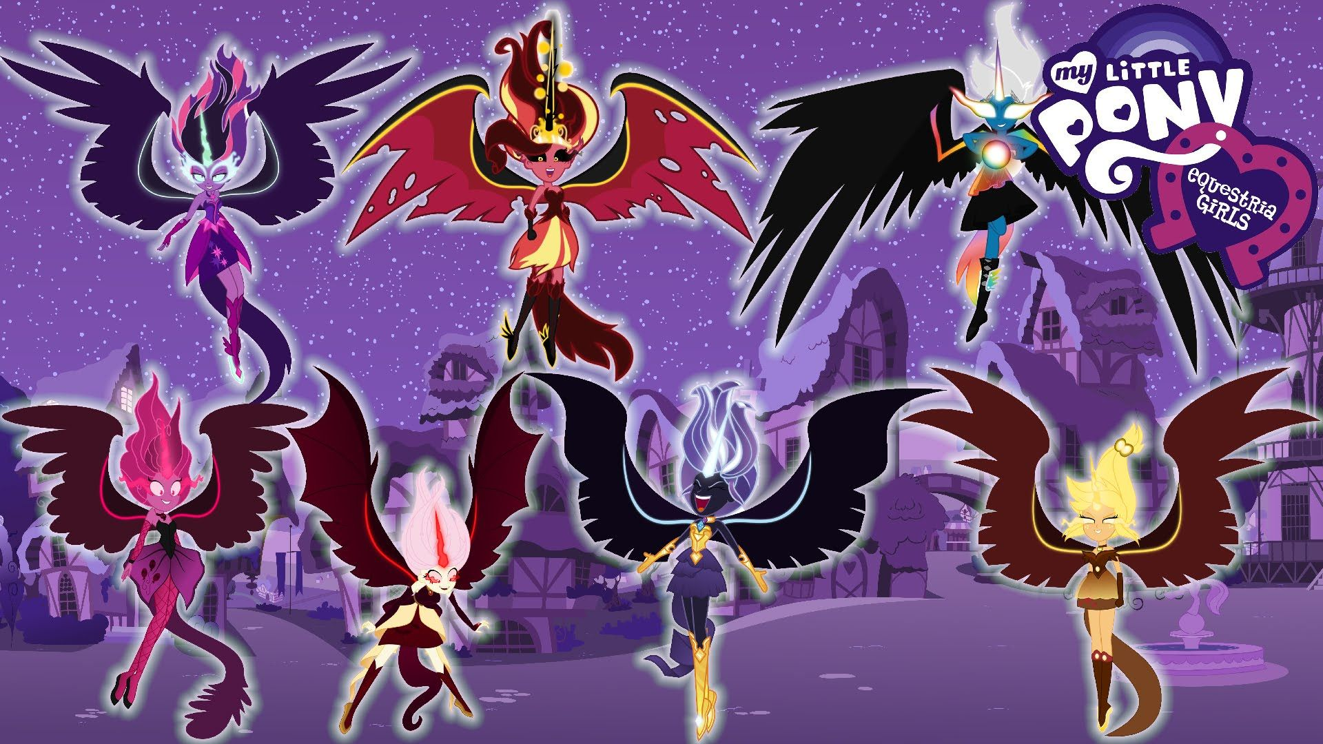 My Little Pony Coloring Pages Nightmare Moon : My little pony transforms equestria girls humane into demon