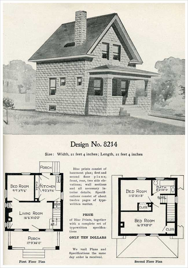 1909 Radford S Cement Houses No 8214 Cement House Craftsman House Plans Sims House Plans