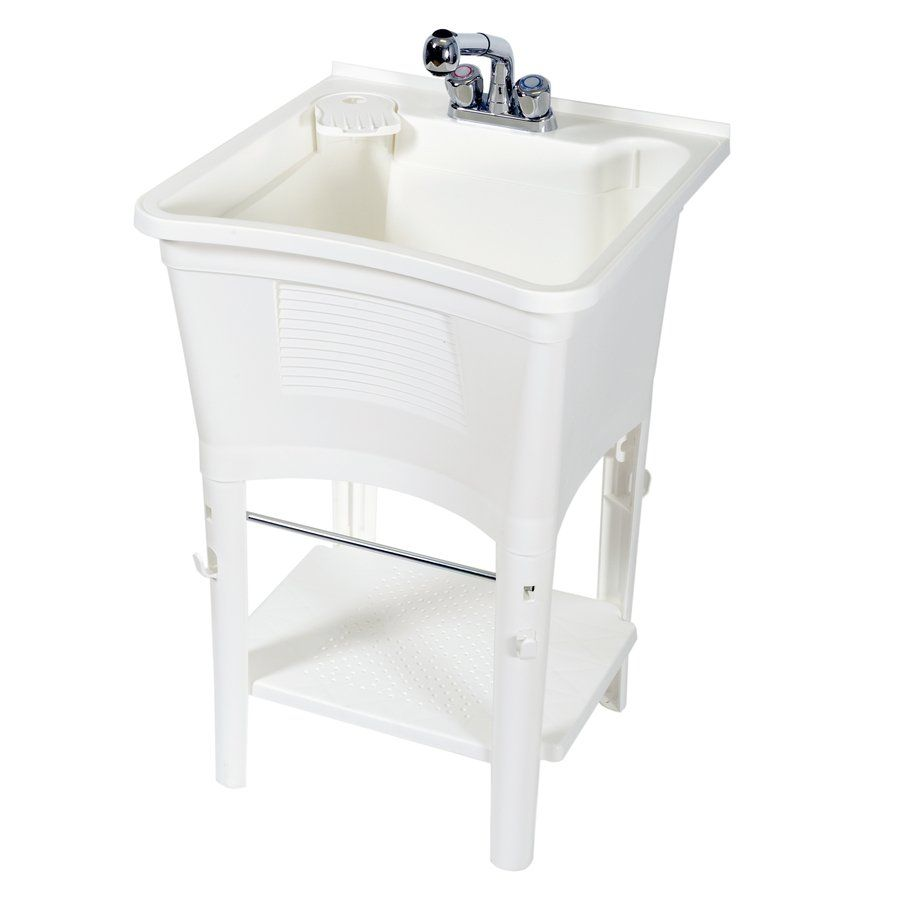 Zenith Products Lt2006w White Polypropylene Utility Tub At Lowe S Canada Find Our Selection Of Laundry Tubs Faucets The Lowest Price