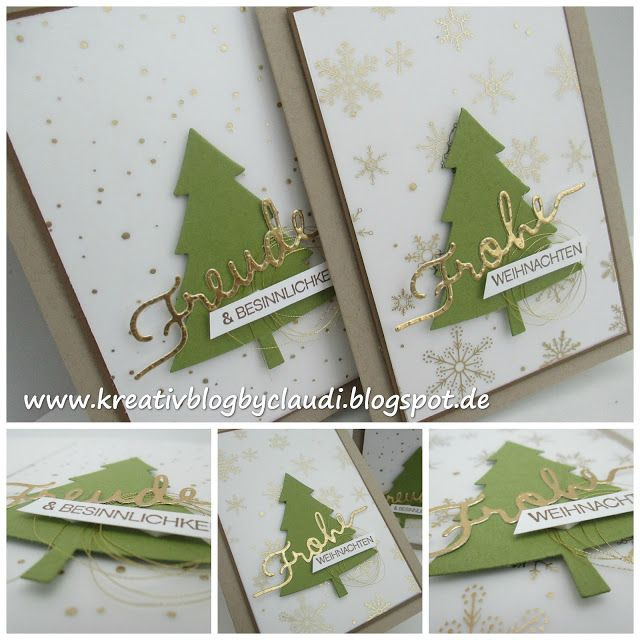 Kreativ Blog by Claudi Stampin up Weihnachten Pinterest