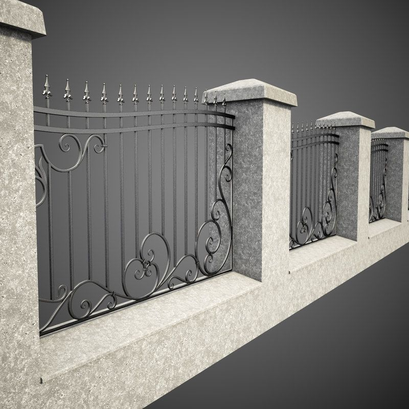 3d Wrought Iron Fence Metal Model In 2019