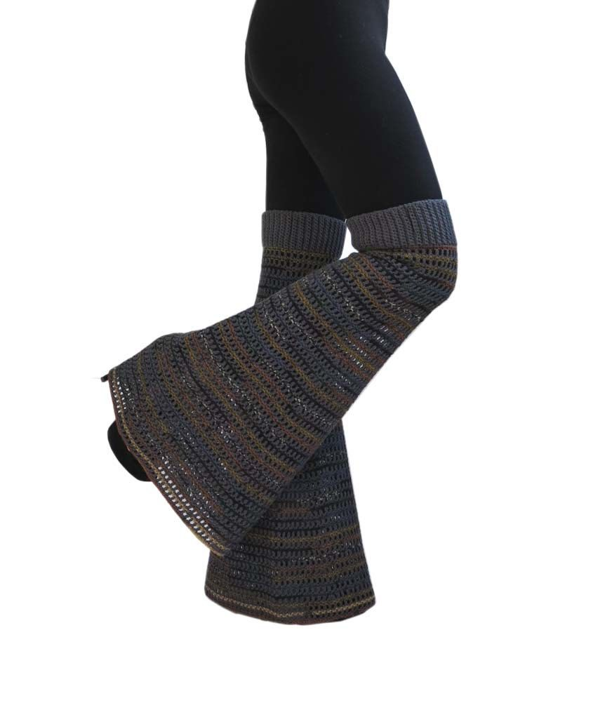 5f00e5821ef One Size - Hazy Shades - Wool Crochet Boot Leg Warmers   Bell Bottoms    Garter Pants   Flares  .  49.00