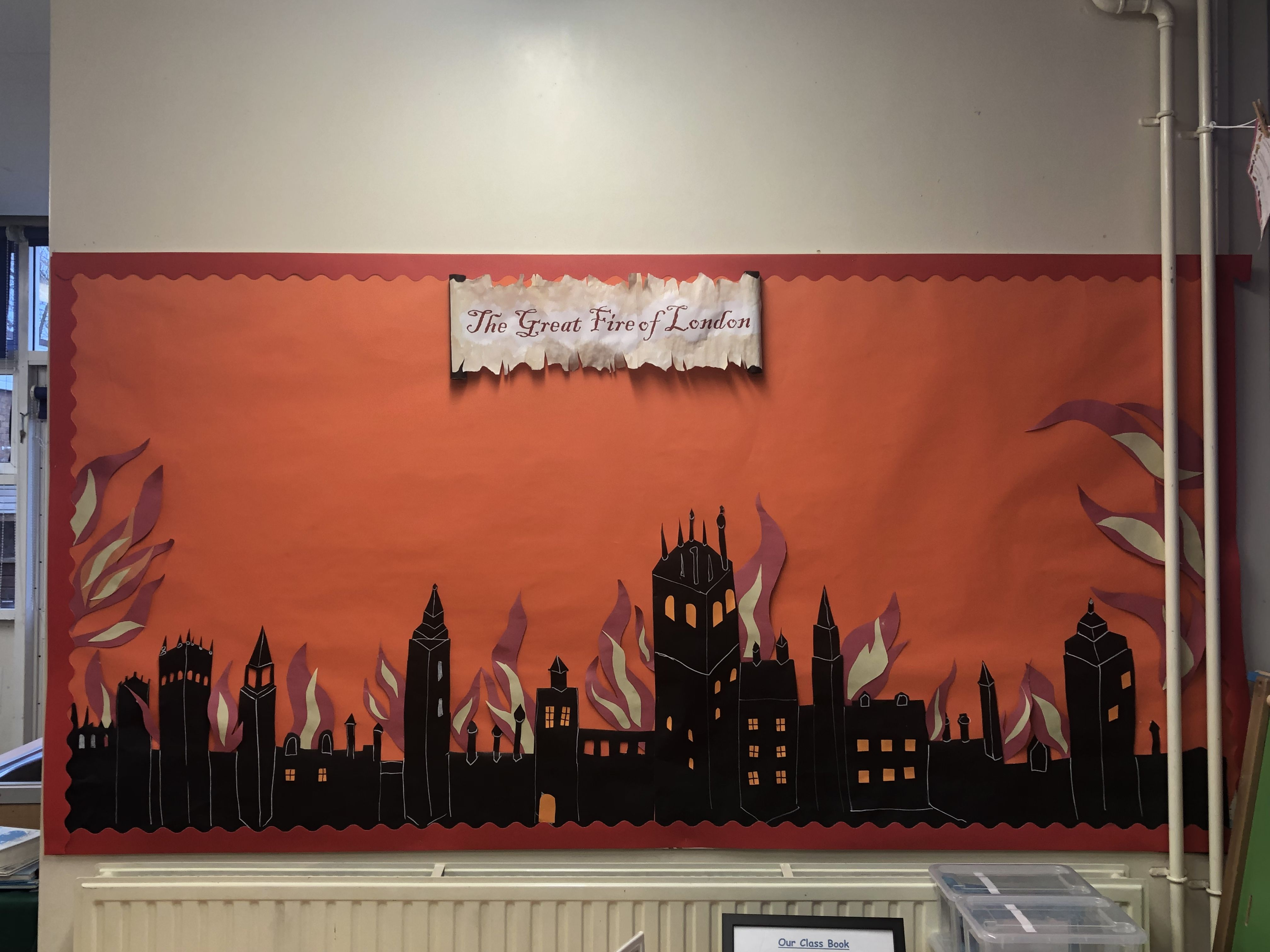 The Great Fire Of London Classroom Display Board
