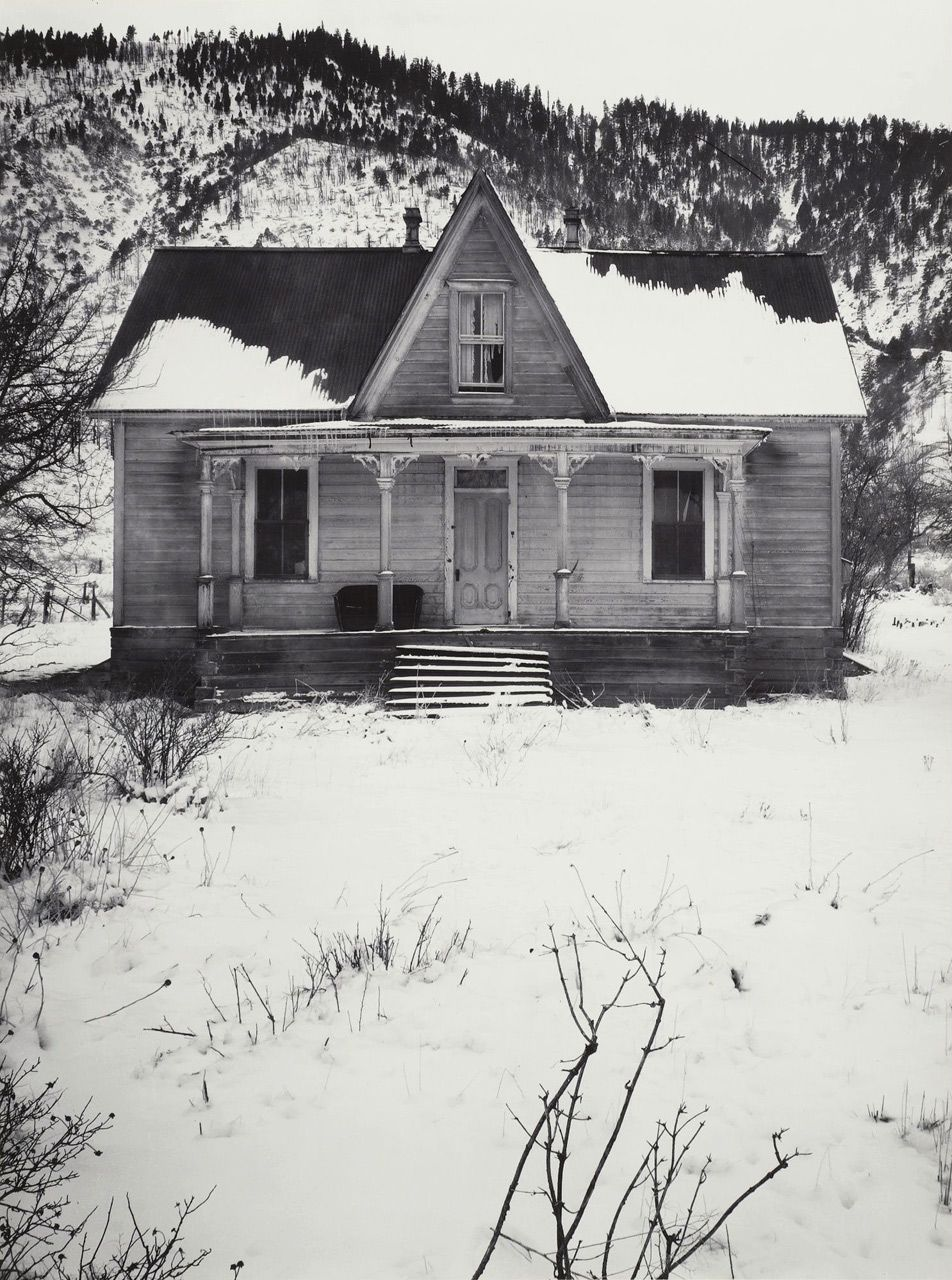 ranch house near carson city nevada winter 1962 photo by ansel adams walk with me in my. Black Bedroom Furniture Sets. Home Design Ideas