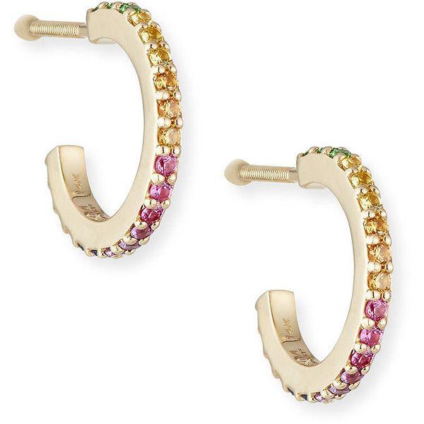 Lana Girl by Lana Jewelry Girls Blue Sapphire Hoop Earrings 4oU0H