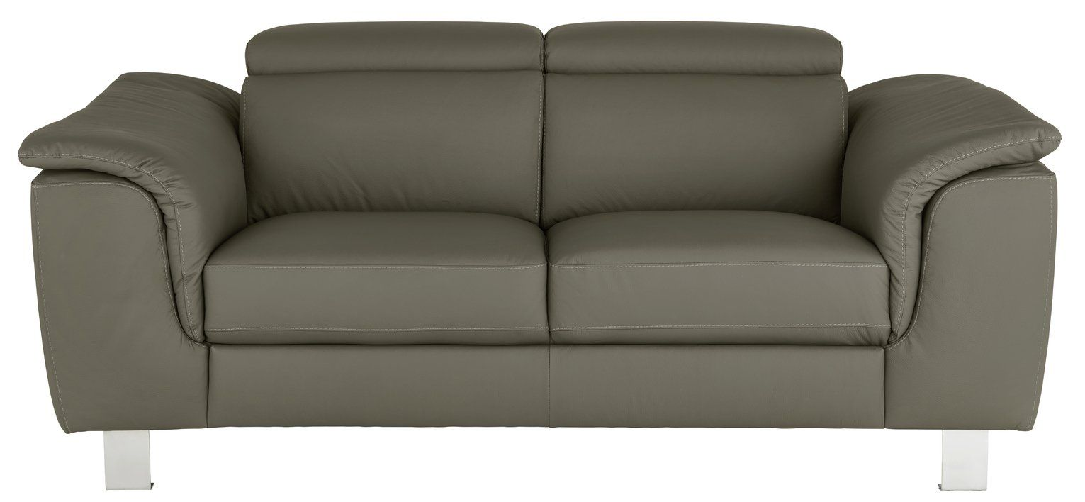 Buy Argos Home Boutique 2 Seater Faux Leather Sofa Grey Sofas In 2020 Faux Leather Sofa Grey Sofa Design Leather Sofa
