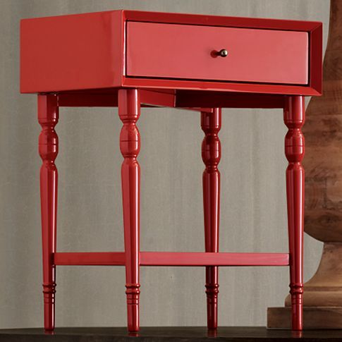Exceptional This West Elm Turned Leg Nightstand Is Gorgeous In A Deep Tangerine Shade  That They Idea