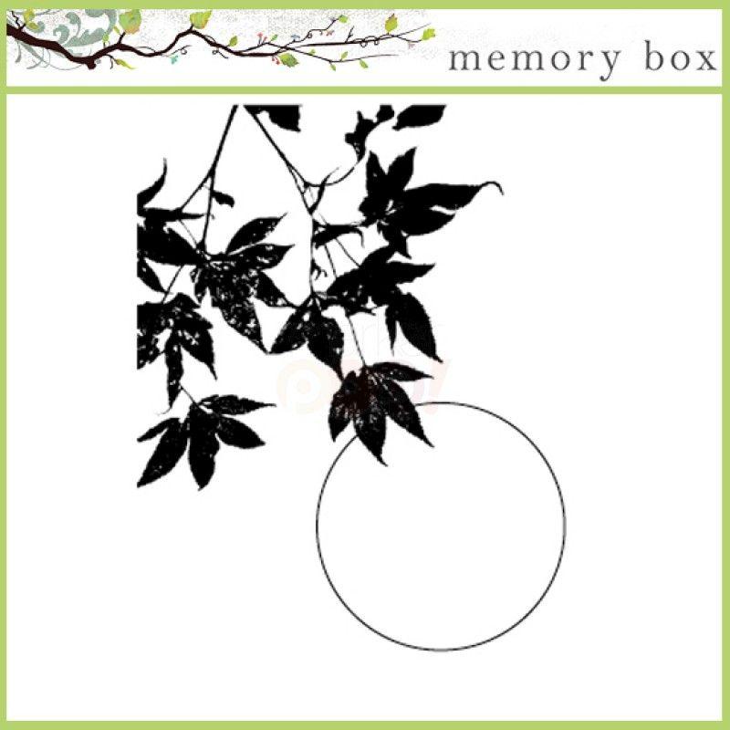 Image result for Memory Box Maple Leaf Sunset stamp