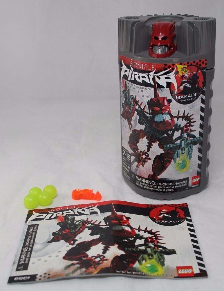 Lego Bionicle 8901 Piraka Hakann CANISTER/HELMET/MANUAL/BALLS/PART ...