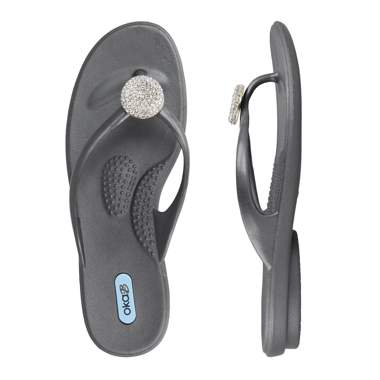 1a769a06ce1b7 Oka b. Women s Lucky Crystal Flip Flop Sandals   You can get more details by