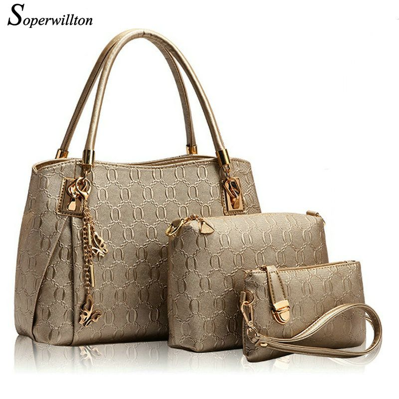 Soperwillton Brand 2016 Women Leather Handbags Composite Bags ...