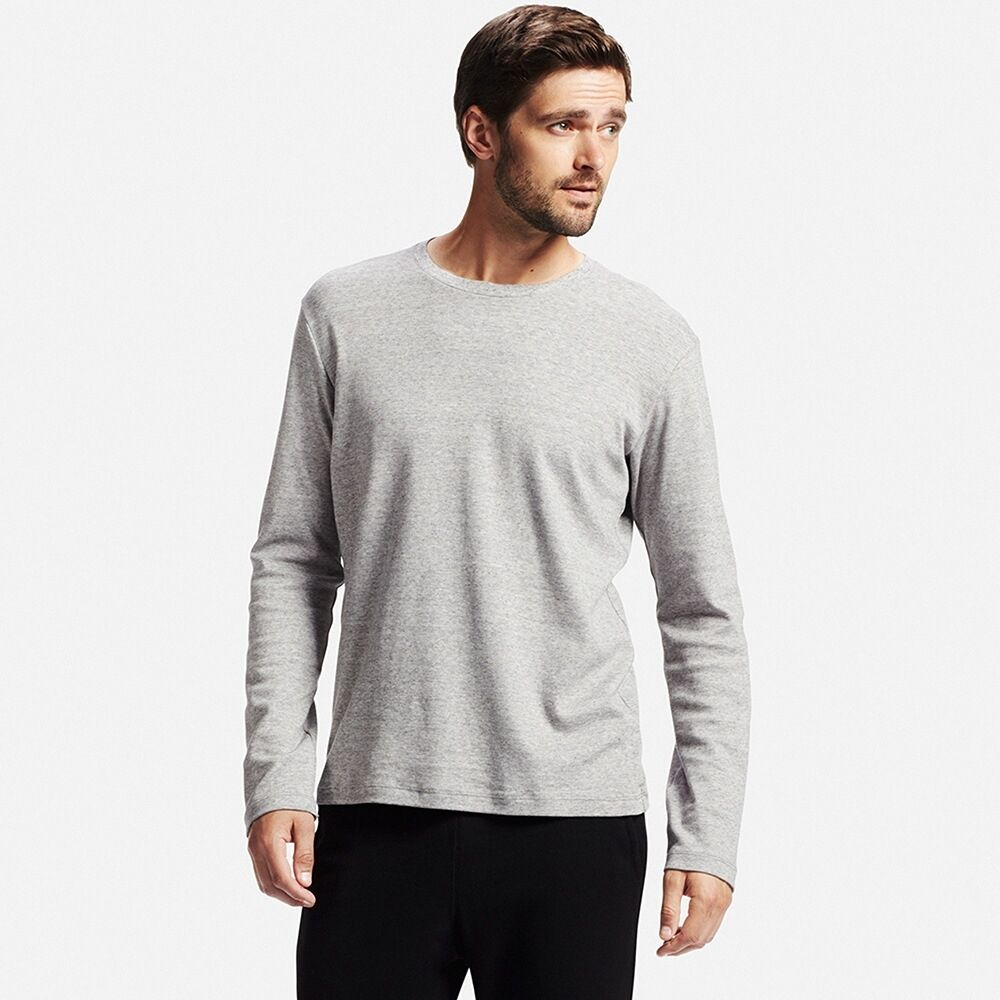 bc7da775b3bfb MEN Soft Touch Crew Neck Long Sleeve T-Shirt