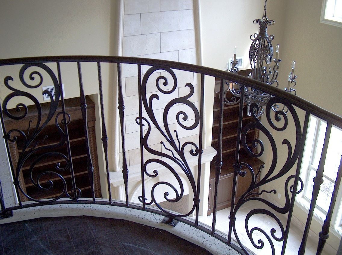 Ornamental railing panels - Ornamental Wrought Iron Stair Railings Google Search
