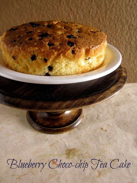 Blueberry Choco-chip Tea Cake by easycooking, via Flickr