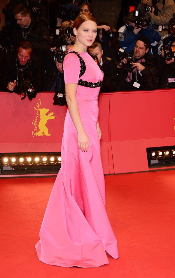 Al festival del Cinema di Berlino hanno brillato con abiti Prada Léa ...