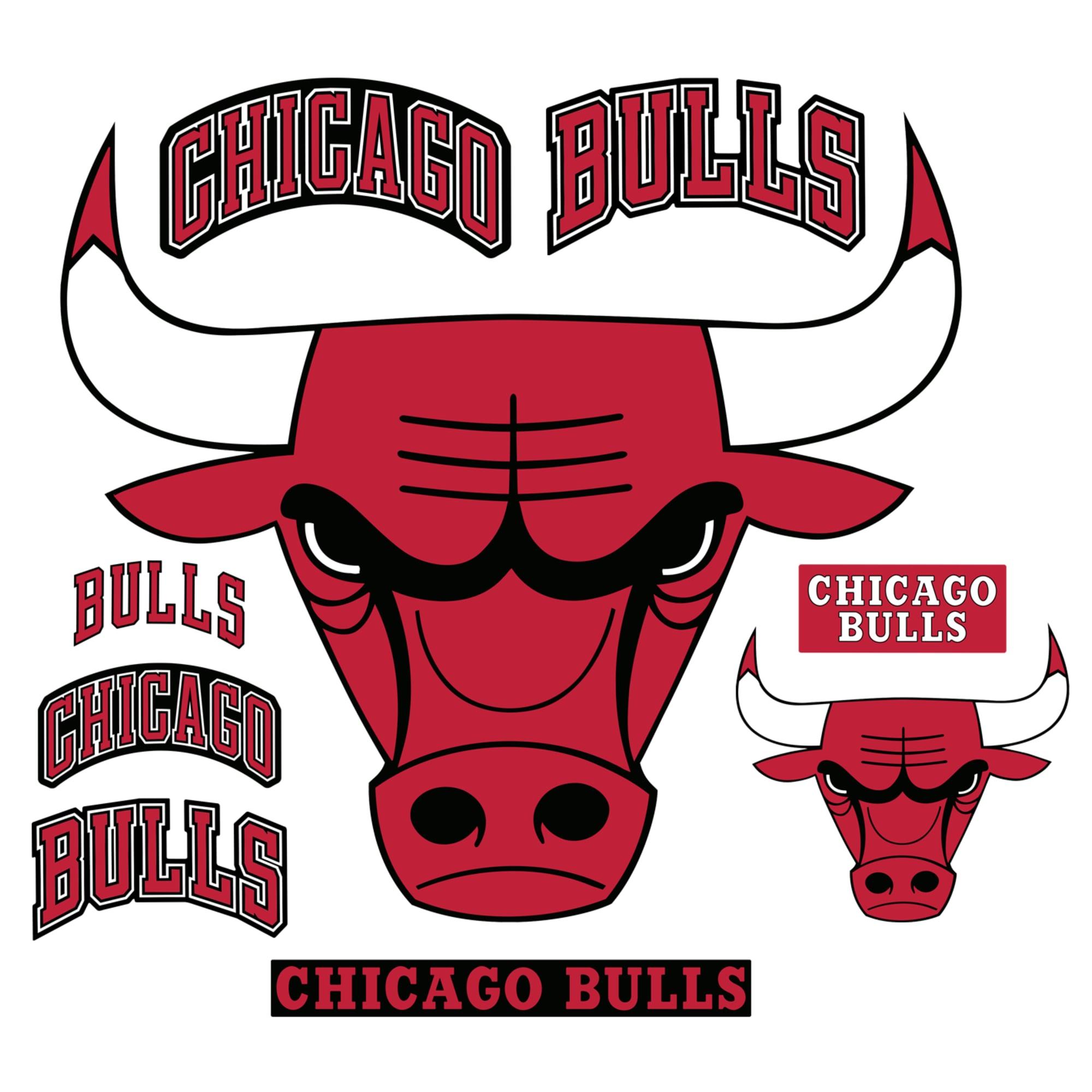 Chicago Bulls Logo Giant Officially Licensed Nba Removable Wall Decal Chicago Bulls Logo Chicago Bulls Bull Logo