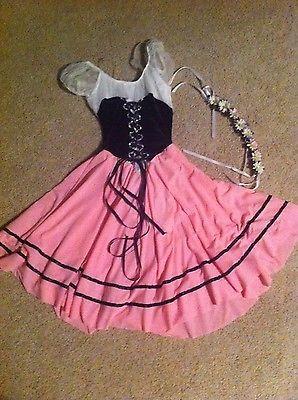 Pink Adult Small Bavarian Peasant Dance Costume | eBay